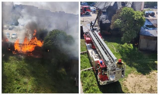 Białystok. Pożar domu przy Zwycięstwa. Czytelnik podejrzewa podpalenie