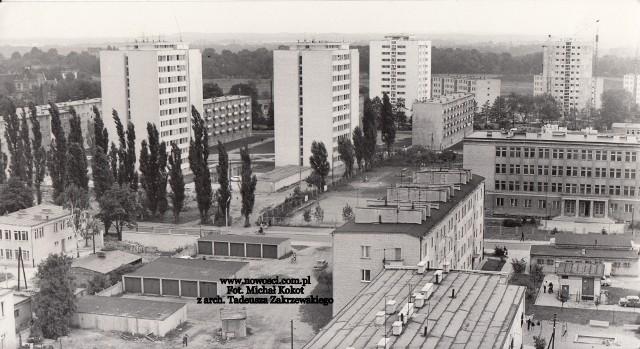 Osiedle Chrobrego, widok z 1972 roku.