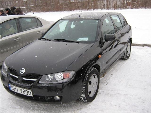 Nissan Almera, 2003 r., 1,5 16V, klimatyzacja, ABS, 4x airbag, wspomaganie kierownicy, elektryczne szyby i lusterka, centralny zamek, autoalarm, 18 tys. 900 zl,