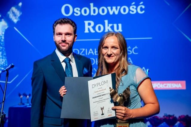 Rolnicy. Podlasie. Emilia Korolczuk z Rancza Laszki w pięknej sukni na gali. Została osobowością roku!