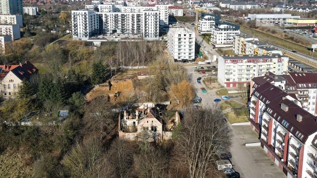 Wieżowiec miałby powstać na działce pomiędzy ul. Duńską, a ul. Wszystkich Świętych w Szczecinie