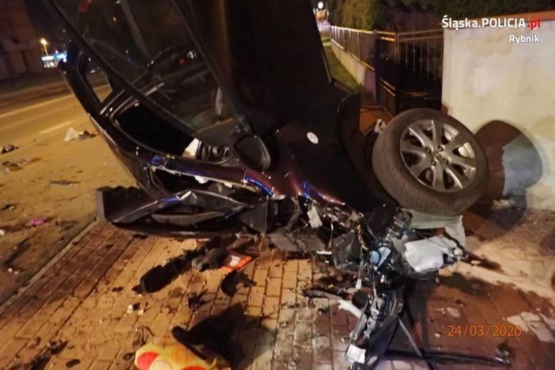 Koszmarny wypadek na ulicy Raciborskiej w Rybniku...