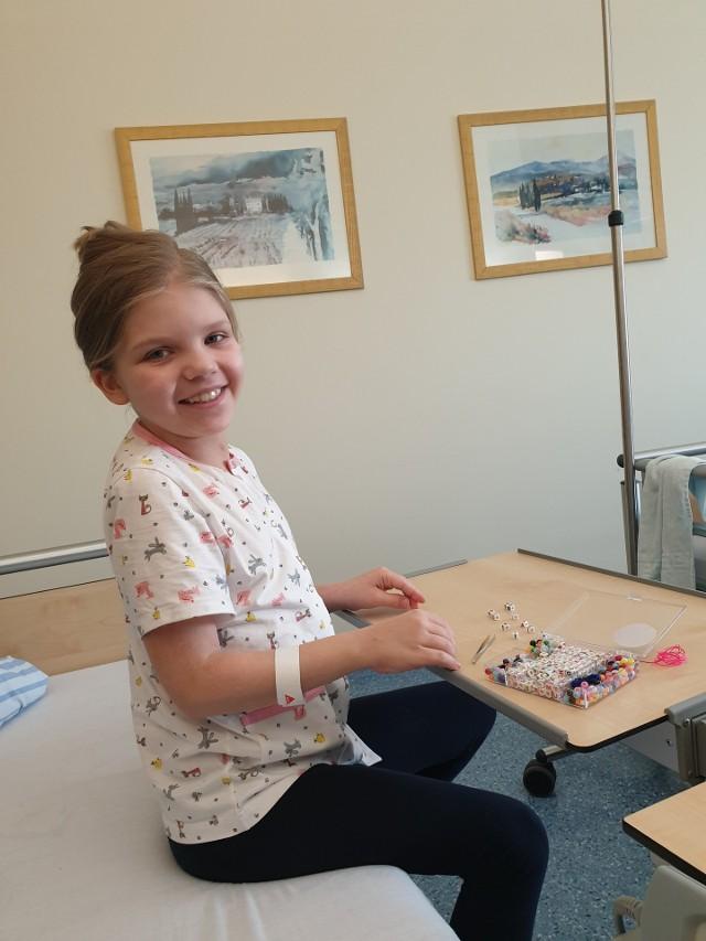 Tak Gosia uśmiechała się dzień po operacji rozciągania kręgosłupa