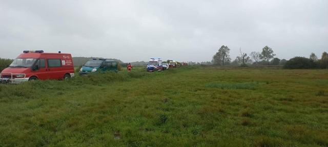 Strażacy z OSP Michałowo pomagali pogranicznikom w akcji ratunkowej na bagnach w okolicach rozlewiska Supraśli