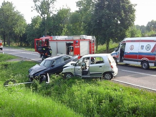 Wypadek na DK 19 w m. Haćki. Ranna kobieta poleciała śmigłowcem LPR do szpitala