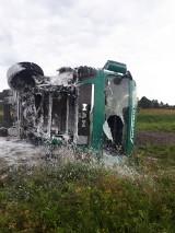 Wypadek w Mniowie. Zderzenie ciężarówki z BMW. Jedna osoba nie źyje, droga krajowa numer 74 była zablokowana