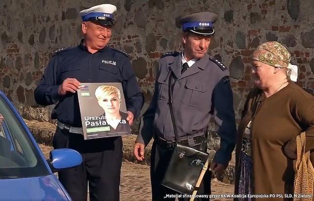Fragment spotu wyborczego Urszuli Pasławskiej