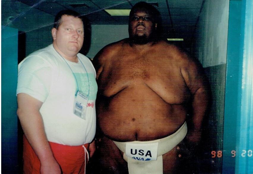 Wiesław Koluch z amerykańska legendą sumo Emanuelem...
