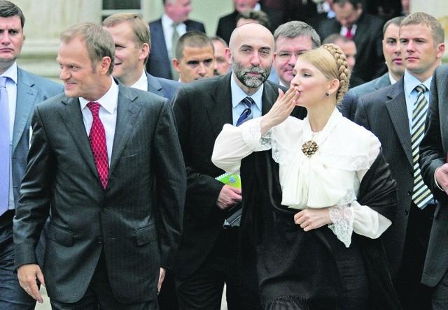 Donald Tusk z Julią Tymoszenko