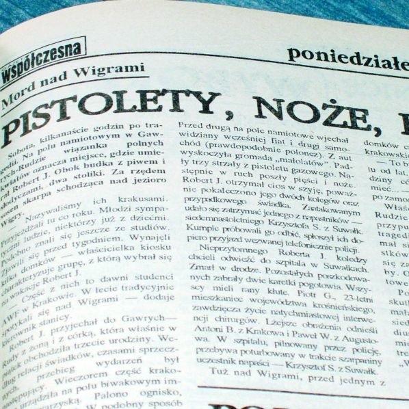 O tragedii pisaliśmy na łamach gazety Współczesnej w 1993 roku