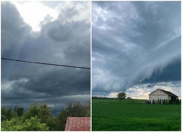 Nad województwo lubelskie nadciągały burzowe chmury