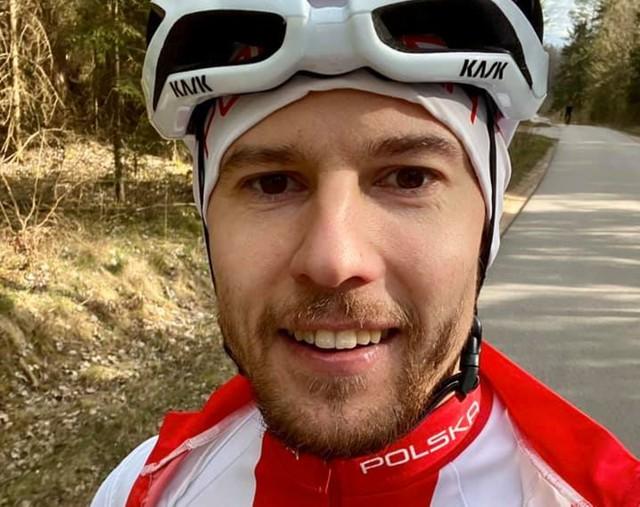 Maciej Bielecki podczas treningu na Podlasiu