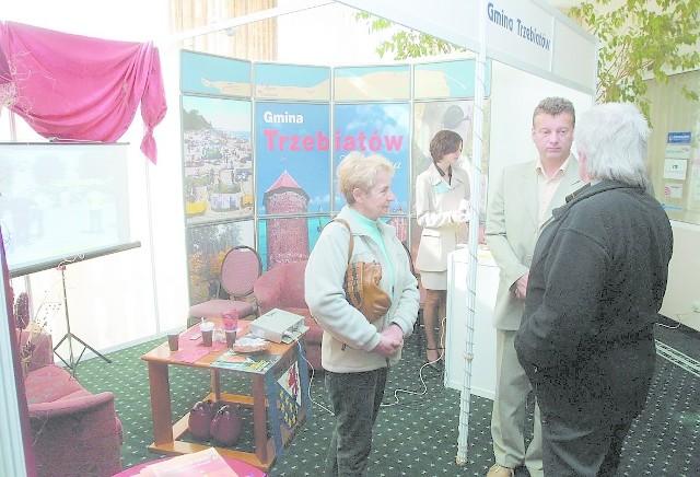 Bardzo dobrze prezentowały się stoiska gminy Trzebiatów.