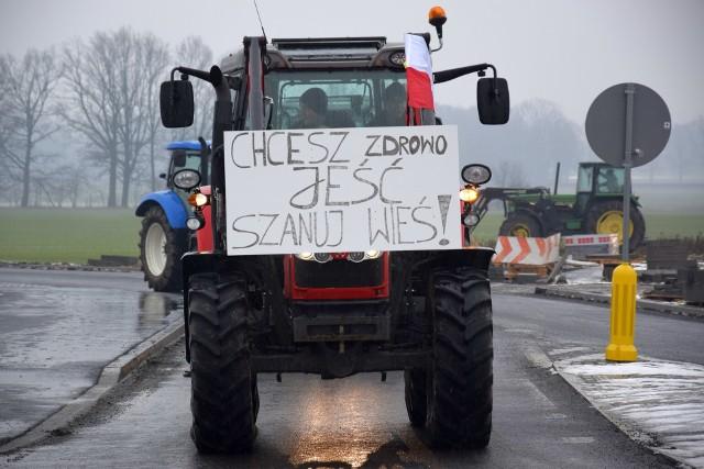 Protest rolników na DK 11.