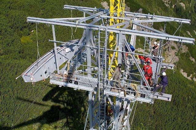 Modernizacja kolejki linowej na Kasprowy Wierch z lat 2007-2008