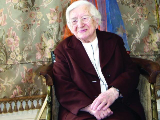Pani Stanisława Zaniewicz mówi, że dystans do życia pozwala jej zachować pogodę ducha.