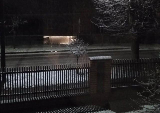 Śnieg w Mońkach