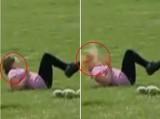 Auć. Dziewczyna dostała arbuzem w twarz. Z katapulty... (wideo)