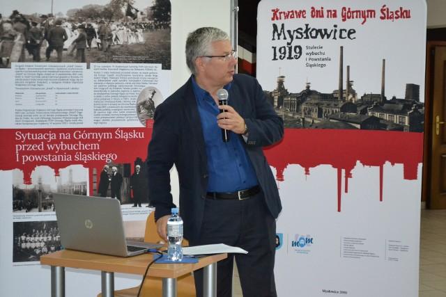 Wykład na temat I powstania śląskiego wygłosił prof. zw. dr hab. Ryszard Kaczmarek