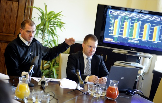 Rafał Dutkiewicz i Marcin Urban, skarbik miasta