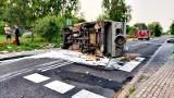 Niebezpieczne zderzenie skody i kampera w Gąbinie w gminie Ustka