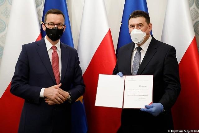 Premier Mateusz Morawiecki z Ryszardem Bartosikiem