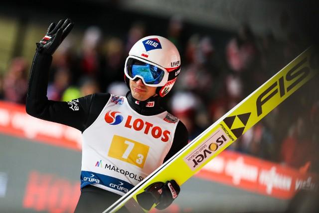 Kamil Stoch podczas konkursu drużynowego