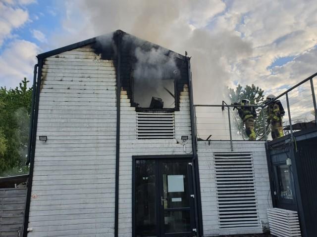 Pożar budynku we Władysławowie 3.06.2021