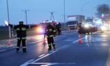 Wypadek na trasie Wrocław - Środa Ślaska. Jedna osoba ranna i utrudnienia w ruchu