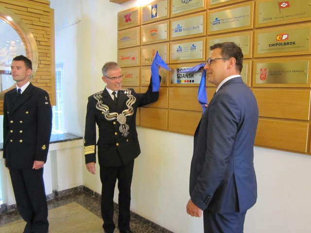 Ceremonia podpisania umowy między Akademią Morską, a Zarządem Morskiego Portu Gdańsk S.A.