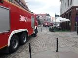 Straż pożarna na Starym Mieście z powodu alarmu w muzeum