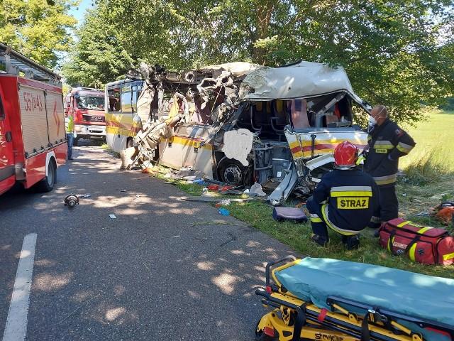 Tragiczny wypadek w Mierzynie we wtorek, 14 lipca 2020 r. 3 osoby nie żyją