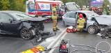 Poważny wypadek w okolicy Pyrzyc. Poszkodowane są cztery osoby, a sprawca uciekł
