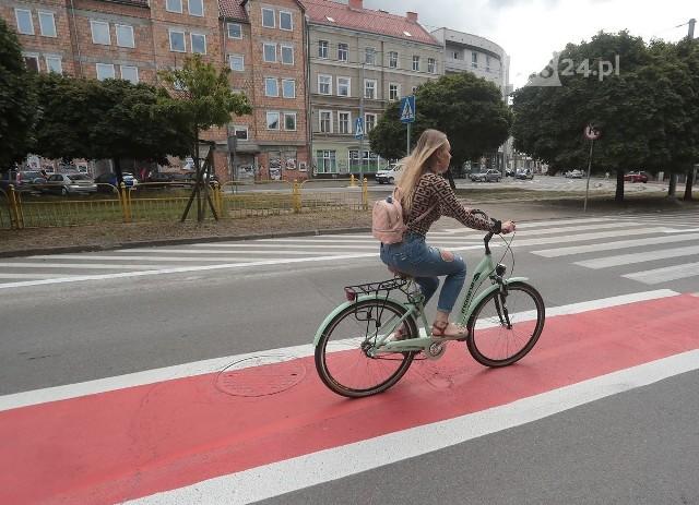 Pasy rowerowe na Dubois w Szczecinie