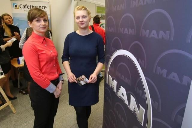 Anna Wąsik i Małgorzata Świątek, pracownice starachowickiego Man-a, przyjechały na targi z ofertami pracy fizycznej i umysłowej dla 200 osób. Warunkiem była znajomość języka niemieckiego.