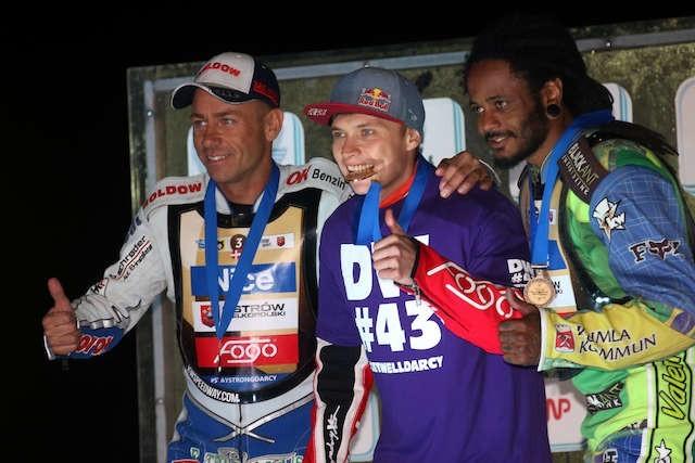Ubiegłoroczne podium cyklu SEC, od lewej: Nicki Pedrsen, Emil Sajfutdinow i Antonio Lindbaeck. Wszyscy pojadą w tym roku