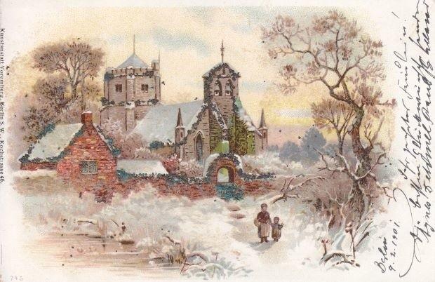 Mroźna i śnieżna zima na widokówkach nawet sprzed 100 lat