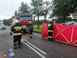Kalnica. Tragiczny wypadek na DK66. Kia zderzyła się z ciężarówką. Zginął kierowca osobówki (zdjęcia)
