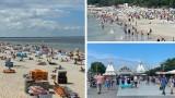 Początek lipca na plaży w Międzyzdrojach. W niedzielę turyści korzystali ze słońca. ZDJĘCIA