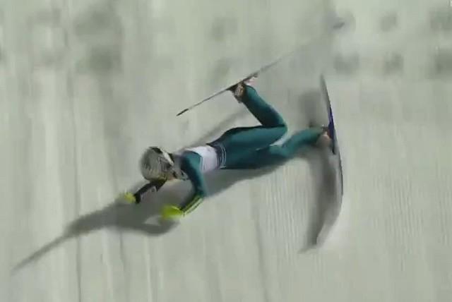 22.12. 2020 r. Upadek Kingi Rajdy w czasie mistrzostw Polski w skokach narciarskich.