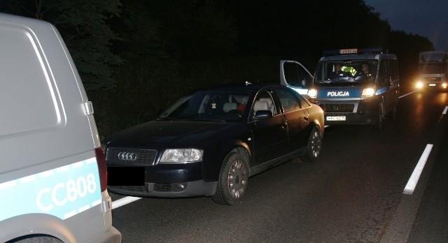 Audi z narkotykami zostało zatrzymane na trasie z Torunia do Inowrocławia