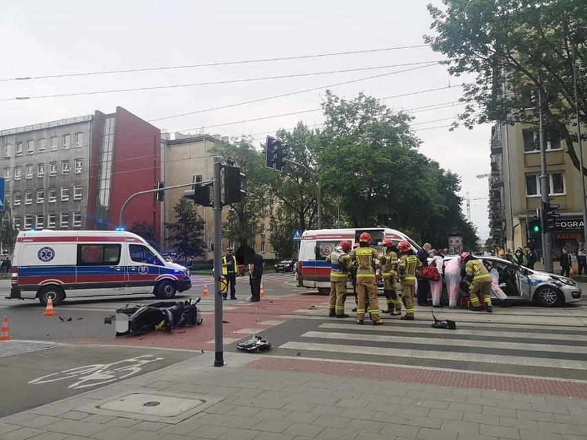 Wypadek na ul. Królewskiej w Krakowie