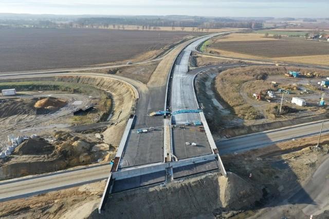 Tak wygląda postęp prac przy budowie obwodnicy Niemodlina.