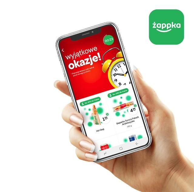 Nowością w aplikacji żappka są m.in. indywidualne, zmieniające się kilkukrotnie w ciągu dnia promocje na ulubione produkty.