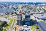 Biurowce KTW przy rondzie: najwyższy budynek Katowic ma już trzy segmenty, zaczęła się budowa ostatniego. Lux Med to nowy najemca KTW I