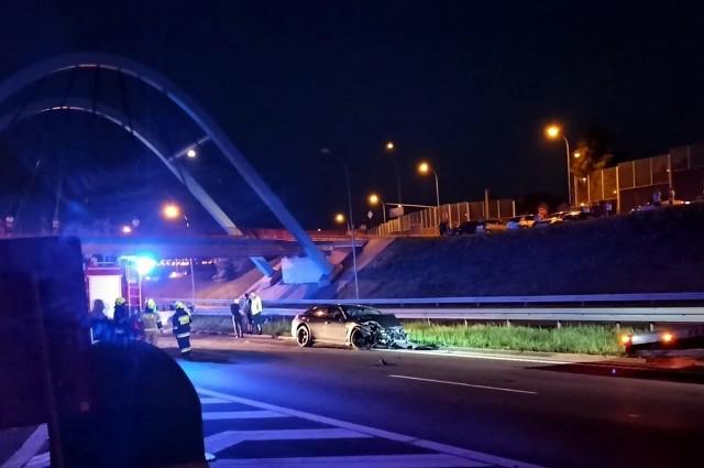 Jurowce. Pijany kierowca miał wypadek na S8. Próbował uciec