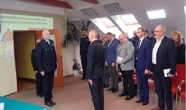 Komenda Powiatowej Państwowej Straży Pożarnej w Grajewie zoorganizowała naradę podsumowującą działania ochrony przeciwpożarowej na terenie powiatu grajewskiego w 2019 roku.