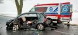 Wypadek koło Trzcianki. Osobówka zderzyła się z tirem. Ranna kobieta trafiła do szpitala