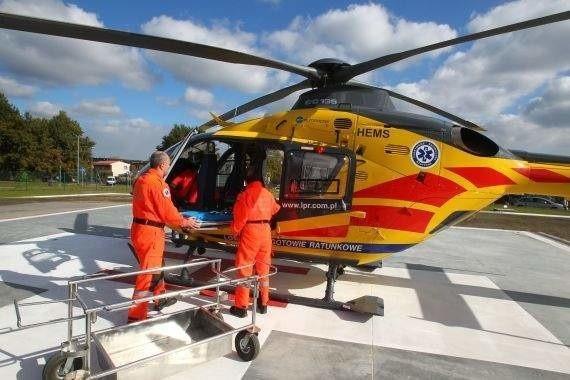 Niemowlę helikopterem przewieziono do szpitala w Szczecinie 25 kwietnia