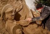 Bożonarodzeniowa szopka w Gdańsku Oliwie. Rzeźba powstała z 70 ton piasku - można ją oglądać do 6.01.2021 [zdjęcia]
